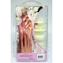 100 Unhas Tips Gel UV e Fibra Modelo Sorriso Natural - Mc