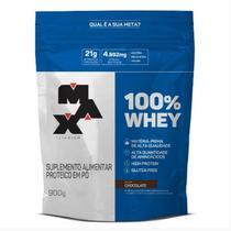 100% Whey - 900g Refil Chocolate - Max Titanium -