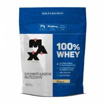 100% Whey 900g Refil Max Titanium -