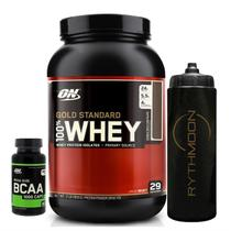 100 Whey Gold 2lbs Chocolate + Bcaa 60caps + Squeeze 1lt Optimum Nutrition -