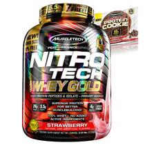 100 Whey Gold Nitro Tech 2,49Kg + Cookies - Muscletech