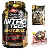 100 Whey Gold Nitro Tech 999g + Cookies + Dose Única - Muscletech