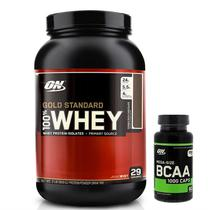 100 Whey Gold Standard 2lbs Chocolate + Bcaa 60caps Optimum Nutrition -