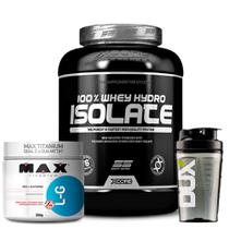 100% Whey Hydro Isolate Ss - 2kg - Xcore + Glutamina 300g Max + Coqueteleira -