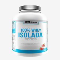 100% Whey Isolada Foods 2kg Morango  BRNFOODS - BRN Foods
