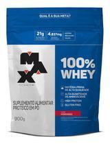 100% Whey Protein Concentrado 900g (Refil) - Max Titanium -