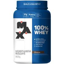 100% Whey Protein Concentrate 900g Chocolate Max Titanium -