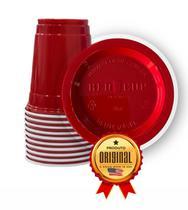 1000 Red Cup Original Copo Vermelho Americano Importado 400ml - Solo