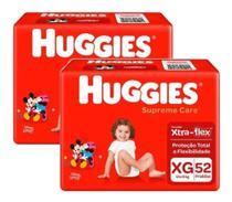 104 Fraldas Huggies Supreme Care Tamanho Xg Disney -