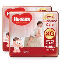 104 Fraldas Huggies Supreme Care Tamanho XG Turma Da Mônica -