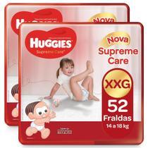 104 Fraldas Huggies Supreme Care Tamanho XXG Turma Da Mônica -