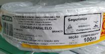 10mtrs Fio Paralelo 1.0mm Branco - Cobrecom/Megatron 1*Linha -