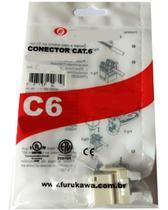 10x Conector Keystone Cat6 Fêmea Furukawa Gigalan Rj45 -
