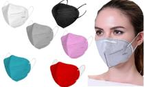 10x Máscara KN95 Colorida Clip Nasal bfe 95% Respirador rosa - Ac&Dc