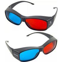 0938e672b 10x Óculos 3d Ultra Resistente Ótima Qualidade Red Cyan