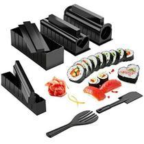 11-peça Ferramentas do Fabricante do Sushi Sushi Molde Arroz Rolo De Plástico diy Casa de Sushi Conjunto de Ferramentas - Reparocell