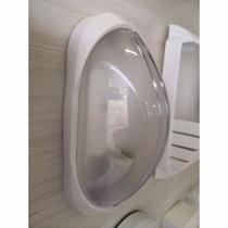12 Arandela Tartaruga Externa Plástica Qualidade Branca AC189 - Acende A Luz