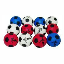 12 Bolas Bolinha Anti Stress Futebol Fisioterapia Massageadora - Gallina