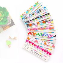 12 Cartelas Adesivos Coloridos Removíveis Marcador De Livro - Neoimp