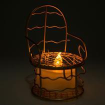 12 Lembrancinhas Mini Cadeirinha Aramado aniversários casamento Dourada 7317+vela - Eminencia
