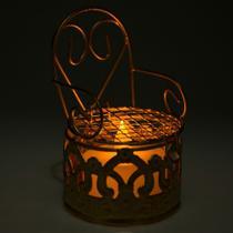 12 Lembrancinhas Mini Cadeirinha Aramado aniversários casamento Dourada 7318+vela - Eminencia