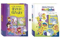 12 Livros Infantis Cartonados Coleção Meu Primeiro Tesouro Clássico Mais Minha Primeira Escolinha - Todolivro