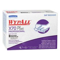 12 Pacotes Panos WypAll Limpeza X70 Plus Professional c/25un - Kimberly clark