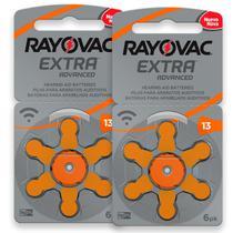 12 Pilhas Baterias 13 Pr48 Aparelho Auditivo Rayovac -