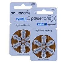12 Pilhas P312 POWER ONE Baterias PR41 Aparelho auditivo -