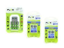 12 Pilhas Recarregáveis Flex 4 Aa +8 Aaa + Carregador Rápido -