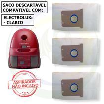 12 Saco Descartável para Aspirador de Pó Electrolux Clario -