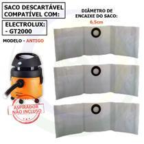 12 Saco Descartável para Aspirador de Pó Electrolux Gt2000 Antigo G2asc -