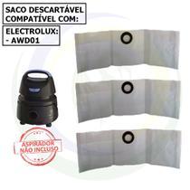 12 Saco Descartável para Aspirador de Pó Electrolux Hidrolux Awd01 -