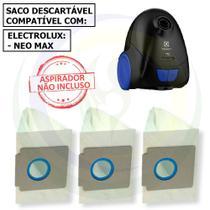12 Saco Descartável para Aspirador de Pó Electrolux Neo Max -