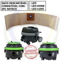 12 Saco Descartável para Aspirador de Pó IPC Soteco Leo / Leo Home / Leo Luxo -
