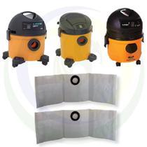 12 Saco Descartável para Aspirador de Pó Lavor Alp Super / Compact 12L / Kronos 12L -