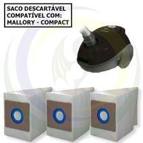 12 Saco Descartável para Aspirador de Pó Mallory Compact -