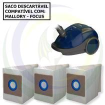 12 Saco Descartável para Aspirador de Pó Mallory Focus 1550 -