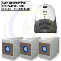12 Saco Descartável para Aspirador de Pó Philco PH 1400 Max -