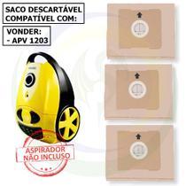 12 Saco Descartável para Aspirador de Pó Vonder Apv 1203 -