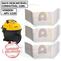 12 Saco Descartável para Aspirador de Pó Vonder Apv 1210 - 10 Litros -
