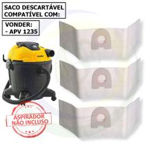 12 Saco Descartável para Aspirador de Pó Vonder Apv 1235 - 35 Litros -