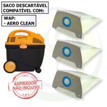 12 Saco Descartável para Aspirador de Pó Wap Aero Clean -