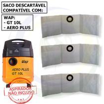 12 Saco Descartável para Aspirador de Pó Wap Aero Plus / Gt 10l -