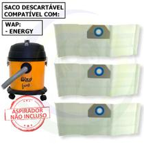12 Saco Descartável para Aspirador de Pó Wap Energy -