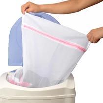 12 Saco Protetor Para Roupa Intima com Zíper Máquina De Lavar Medio 50 x 40 cm - Spm