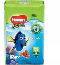 12 Unidades Fralda Huggies Little Swimmers Mar E Piscina P -