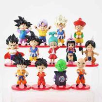 13 Bonecos Dragon Ball Z Goku Vegeta Coleção Miniaturas - Super25