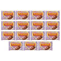 15 Pacotes 60g Sazon Ajinomoto Tempero Cor Roxa Sabor Alho -
