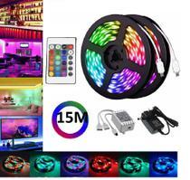 15m Led Faixa De Luz Kit Para Quarto Decorativo - RGB